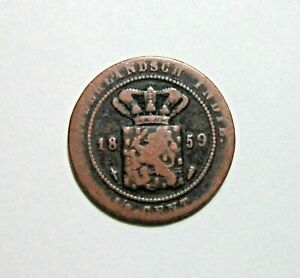 NETHERLANDS EAST INDIES. 1/2 CENT, 1859.