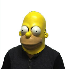 Funny Adult Bart Simpson Mask Cosplay Fancy Dress Halloween latex Full Head prop