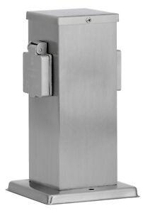 Ledar 2er Außensteckdose Steckdosensäule Sockelsteckdose max3500W IP44 edelstahl