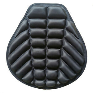 Black Lycra Comfort Gel Seat Cushion Cover Shock Absorb Pad Fits For Motorcycle
