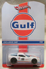 "Hot Wheels CUSTOM CORVETTE ZR1 ""Gulf Racing"" Real Riders Limited #7/25 Made!"