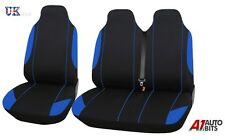 FORD TRANSIT CUSTOM 13-on COPRISEDILI PER FURGONI NERO + blu tessuto 2+1 &