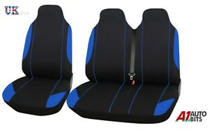2+1 BLUE COMFORT FABRIC SEAT COVERS SET FOR MITSUBISHI FUSO CANTER VAN NEW