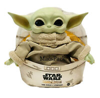 "Star Wars Mandalorian The Child 11"" Plush Baby Yoda Doll Mattel"
