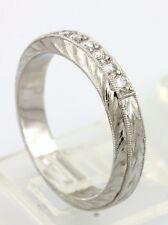 Platinum Kirk Kara Isabella 0.18ctw diamond wedding band 4mm ring size 6.5 NEW