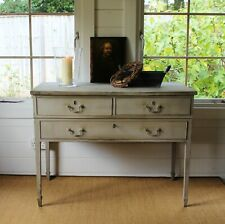 """ANTIQUE FARMHOUSE """"RUSTIC PAINTED"""" SIDEBOARD/CONSOLE/HALL TABLE/ROUGH LUXE STYLE"""