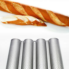 4 Gutters French Bread Baking Nonstick Perforated Baguette Pan Loaf Bake Mold