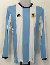ARGENTINA 2016/17 L/S HOME SHIRT BY ADIDAS SIZE MEN'S MEDIUM BRAND NEW WITH TAGS