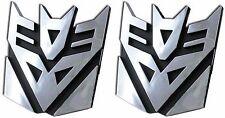"""Set of 2 3D Logo Transformers Decepticons Megatron Self Adhesive Car Emblem 4"""""""