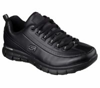 Skechers Work Wide Width Black Shoes Women Memory Foam Slip Resistant Soft 76550