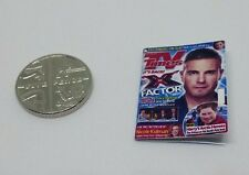 Miniature 1:12th scale Dolls House accessory TV Times Television Guide