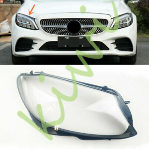 For Mercedes-Benz W205 C-class 2019-2020 Right Side Headlight Clear Cover + Glue