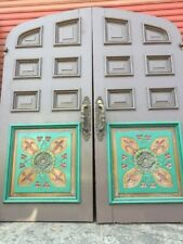 Arched front door French door church Mission Style Double Doors