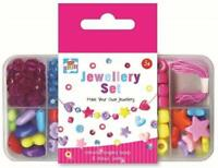 Girls Make your own Jewellery Set in box colourful shaped Art Craft Beads Age 3+