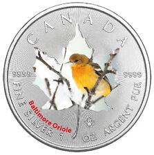 1 Oz Silber Maple Leaf Farbe 2017  Canadian Birds Baltimore Oriole Vögel Kanada
