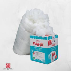 Premium Polyester Fiber 10 Lbs Poly-Fil White Bag Pillow Stuffing 2 Bags