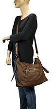Women Leather Bag Shoulder Handbag Messenger Satchel Purse Crossbody Tote Brown