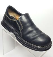Born Women's Size US 9.5 Slip on Loafers Casual Shoes Black Leather (31G)