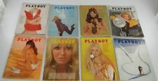 LOT OF 8 PLAYBOY ISSUES FROM 1969~Feb Mar Apr May Jul Aug Oct Nov~All Centerfold