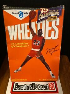 1998 Wheaties MICHAEL JORDAN 75 Years of Champions Cereal Box (Flat)