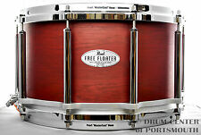 Pearl 14x8 African Mahogany Free Floating Snare Drum - Natural Red Mahogany - FT