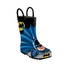 Western Chief DC Comics WB Batman Kids Rain Boots Size 5 Nib