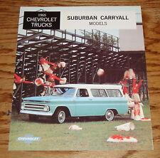 1965 Chevrolet Trucks Suburban Carryall Models Sales Brochure 65 Chevy