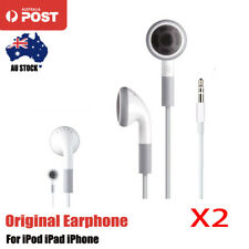 2xOriginal Apple Headphones Earphones Earbuds For iPod iPhone Nano Genuine 120cm