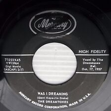 DREAMTONES Was I Dreaming b/w Say Baby Hey 45 on MERCURY e3721