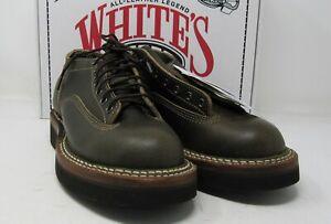 White's NorthWest LTT. 7 E, oxford , Olive waxed flesh. Crepe soles.