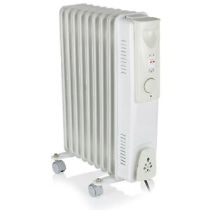 5/7/9 Fin Oil Filled Radiators Electric Space Heater Portable With Eco Timer UK