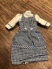 Vintage 1974 MEGO Wizard of Oz Dorothy REPLACEMENT DRESS BLUE WHITE ORIGINAL