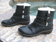 UGG Australia Leather Caspia Lace Up Black Ankle Boots Wm Sz 6  EUR 37  $185