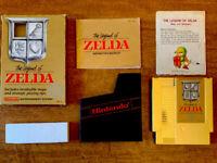 Legend of Zelda 1987 NES - REV-A CIB - RARE OVERWORLD MAP! Original Gold Edition