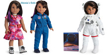American Girl Luciana Vega Doll And Book WITH FLIGHT AND SPACE SUITS NEW IN BOX