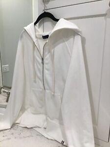 GAP womens white zip up hoodie xl