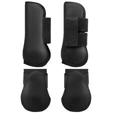 Adjustable Horse Leg Boots Set Equine Front Leg Guard Hind Boots Neoprene K0X3