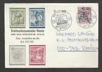 C 02 ) Bund echt gelaufener Brief vom Briefmarkensammler Verein Bad Dürkheim