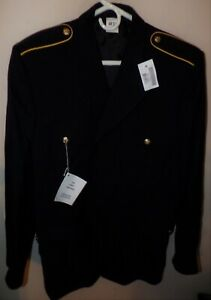 ORIGINAL U.S. ARMY ENLISTED DRESS BLUE COAT - SIZE 44R - NEW WITH TAG