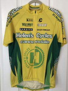 New Cannondale Cycling Jersey Helens Cycle Short MENS Large 3/4 Zip USA made A35