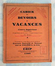 Ancien cahier de devoir de vacances écolier EDIP old school french book