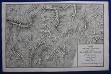 ORIGINALE ANTICO MAPPA ITALIA, Trento, Lago di Garda, guerre napoleoniche, TARDIEU, c.1824