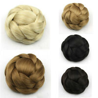New Women Ladies Large Hair Buns Synthetic Chignon Clip-In Hairpiece Fast Bun 36