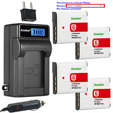 Kastar Battery LCD AC Charger for Sony NP-BG1 BG1 Sony Cyber-shot DSC-H50 Camera