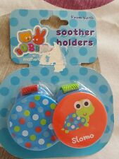 2 NEW MOTHERCARE SOOTHER HOLDERS NEW
