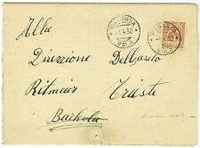 ITALY: Blind mail domestic letter 1930, braille contents.