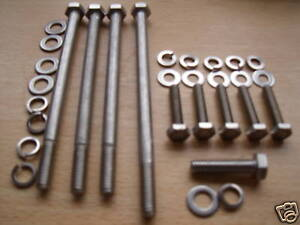 ROVER V8 3.5 SHORT EARLY WATER PUMP BOLTS STAINLESS STEEL KIT CAR MGBgtv8 P5b P6