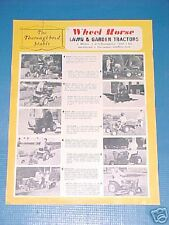 WHEEL HORSE TRACTOR The Thoroughbred Stable BROCHURE