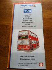 Bus Timetable/ Route 194. (Forest Hill to West Croydon)