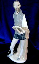 NAO BY LLADRO #305 DON QUIXOTE READING BRAND NIB MAN WITH SWORD BOOK TALL SAVE$$
